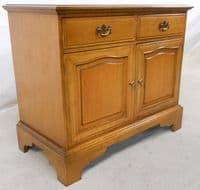 SOLD - Stag Light Wood Small Sideboard Cupboard Base
